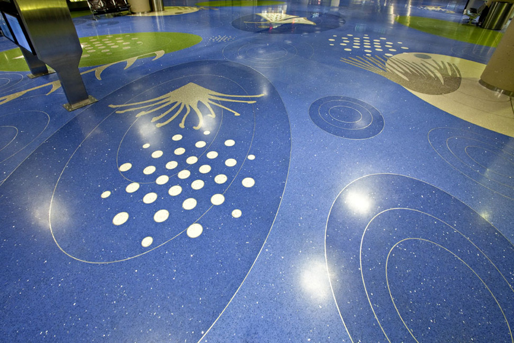 "Terrazzo Floor design ""Desert Rain"" by artist Teresa Villegas"