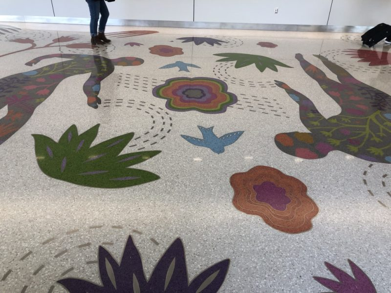 Finished and polished terrazzo floor