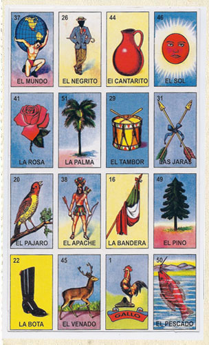 photo regarding Printable Loteria Mexicana identify Historical past of La Loteria - Teresa Villegas