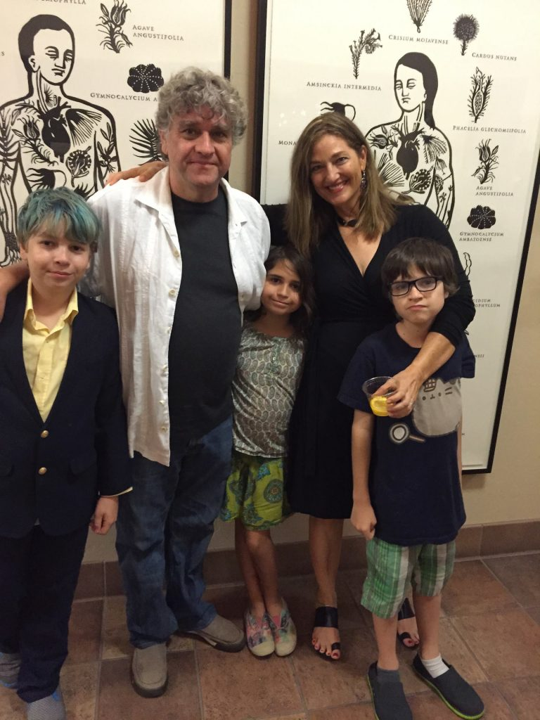 Artist Teresa Villegas with her family and biggest supporters.